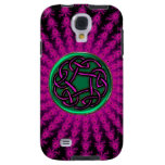 Celtic Hot Pink and Green Fractal Knot Galaxy S4 Case