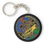 Celtic Hound & Bird Keychain, Black Keychain