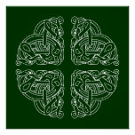 Celtic Hounds Mandala Design Posters