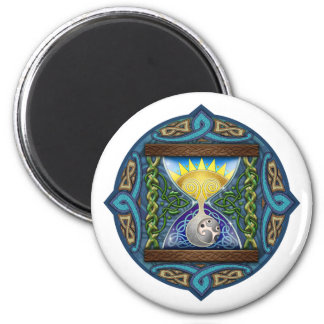 Celtic Hourglass 2 Inch Round Magnet
