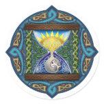 Celtic Hourglass Classic Round Sticker