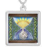 Celtic Hourglass Pendant Necklace