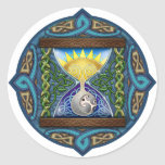 Celtic Hourglass Round Stickers