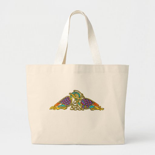 Celtic Illumination - Bird Knot Jumbo Tote Bag