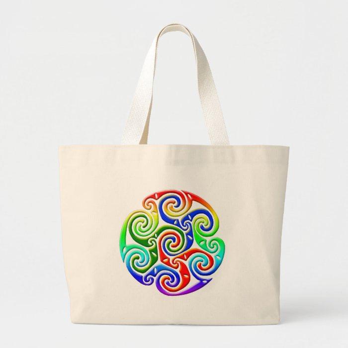 Celtic Illumination - Trinity Swirl III Large Tote Bag