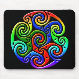 Celtic Illumination - Trinity Swirl III Mousepads