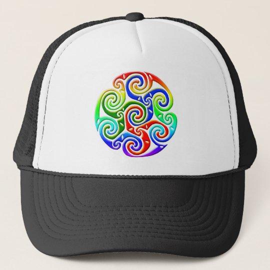 Celtic Illumination - Trinity Swirl III Trucker Hat