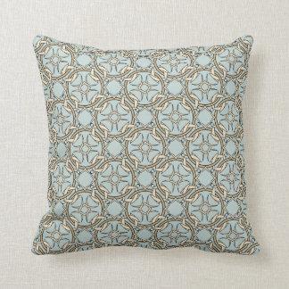 Celtic Inspired Interlocking Graphic Cream Black Pillow