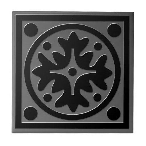 Celtic Inspired Tile # 1 gray Stainless Steel look
