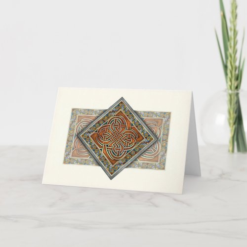 Celtic Interlace Panel Greeting Card