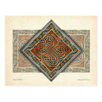Celtic Interlace Panel Postcard
