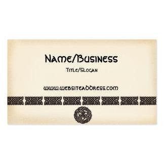 Celtic Irish Bars Symbols Design Business Cards