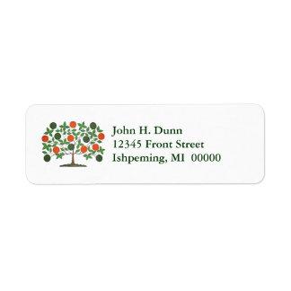 Celtic Irish Family Tree Green & Orange Labels