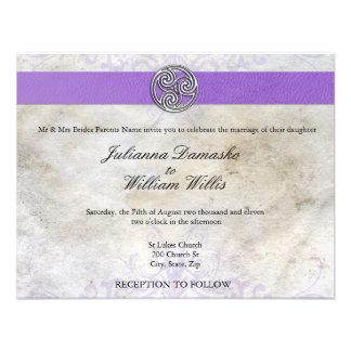 Celtic Irish  Gaelic Triskelion Wedding Invite