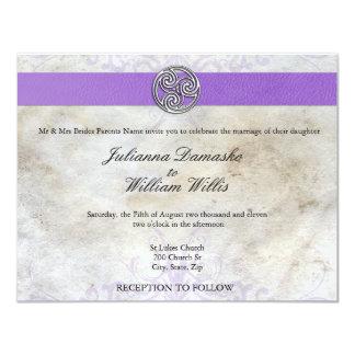 "Celtic Irish  Gaelic Triskelion Wedding Invite 4.25"" X 5.5"" Invitation Card"