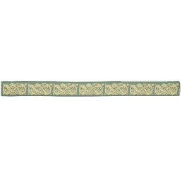 Celtic Irish Golden Snake on Green Hair Tie