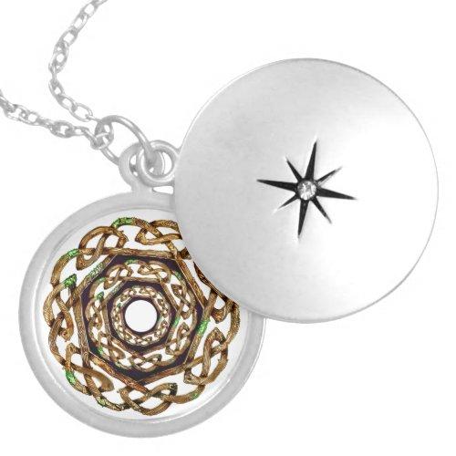 celtic irish ireland locket necklace