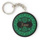 Celtic Irish Personalized Name Keychain