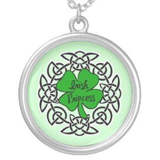 Celtic Irish Princess Round Pendant Necklace