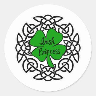 Celtic Irish Princess Classic Round Sticker