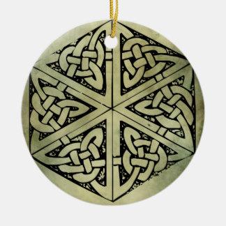 celtic irish sacred symbols ceramic ornament