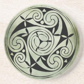 celtic irish sacred symbols coaster