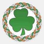 Celtic irish shamrock simple festive stickers