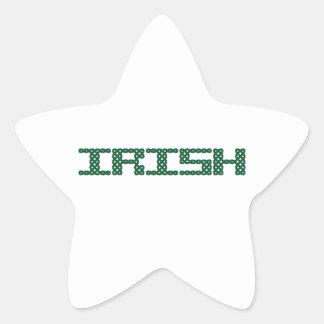 CELTIC IRISH STAR STICKER