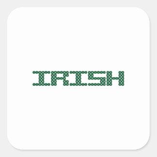 CELTIC IRISH SQUARE STICKER
