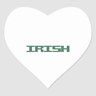 CELTIC IRISH HEART STICKER