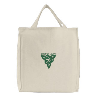 Celtic Irish Symbol Sign Embroidered Tote Bag
