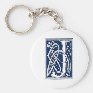 Celtic J Monogram Basic Round Button Keychain