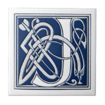 Celtic J Monogram Tile