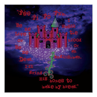 Celtic Jack and the Beanstalk in Red Poster