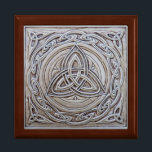 "Celtic Jewellery Box<br><div class=""desc"">Beautiful Celtic Jewellery Box with a lovely celtic tile design lid</div>"