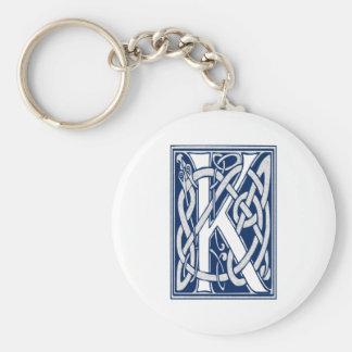 Celtic K Monogram Basic Round Button Keychain