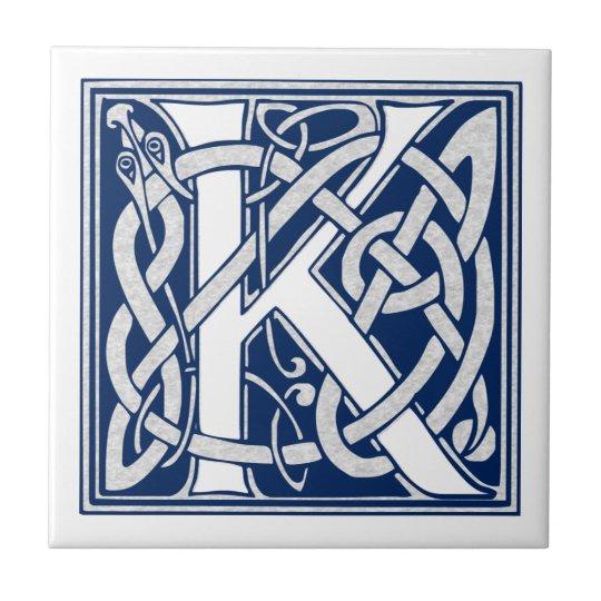 Celtic K Monogram Tile