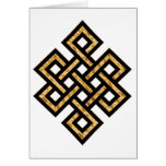 Celtic Knot 10 Gold Card