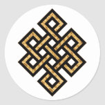 Celtic Knot 10 Gold Round Stickers