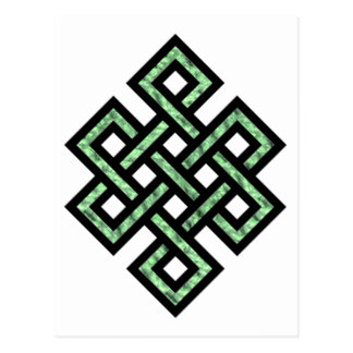 Celtic Knot 10 Green Postcard
