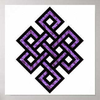 Celtic Knot 10 Purple Poster