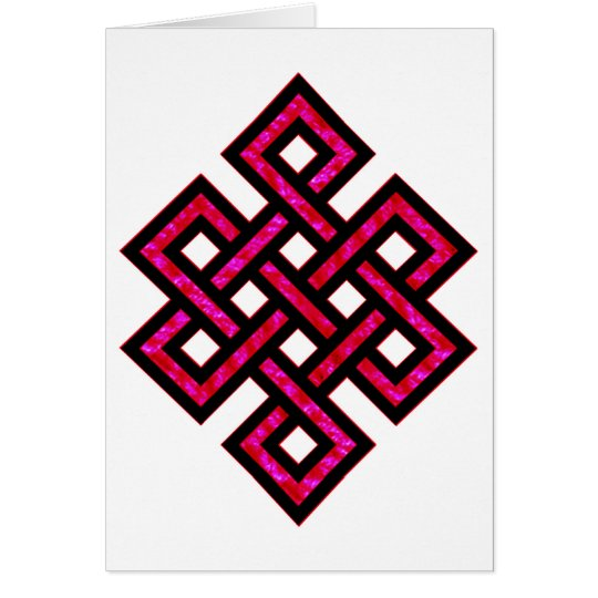 Celtic Knot 10 Red Card