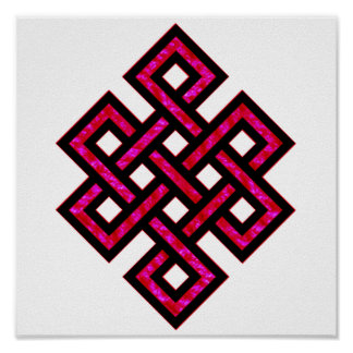 Celtic Knot 10 Red Poster