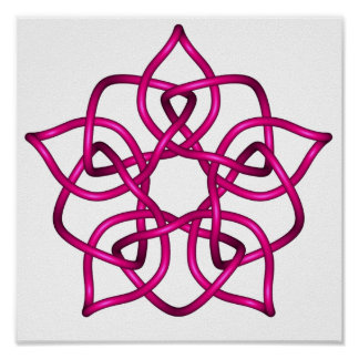 Celtic Knot 11 Red Poster