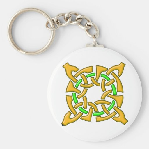 Celtic Knot 13 Gold Keychain