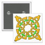 Celtic Knot 13 Gold Pinback Button