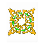 Celtic Knot 13 Gold Postcard