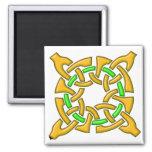 Celtic Knot 13 Gold Refrigerator Magnets