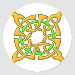 Celtic Knot 13 Gold Stickers