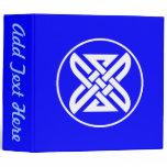 Celtic Knot 1 Blue Binder